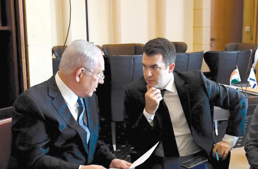 DAVID KEYES (R) and Prime Minister Benjamin Netanyahu (L) (photo credit: HAIM ZACH/GPO)