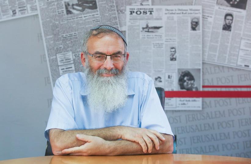 RABBI DAVID STAV visits 'The Jerusalem Post' this week. (photo credit: MARC ISRAEL SELLEM)