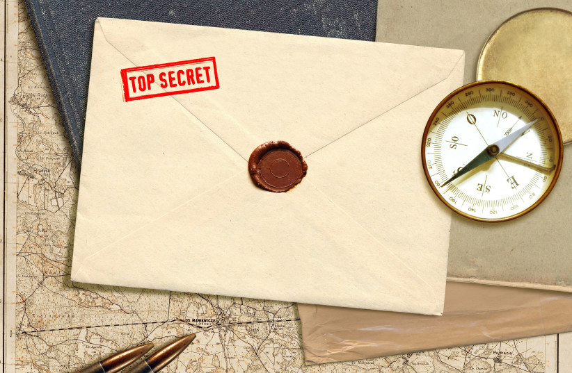 Top secret materials (photo credit: ING IMAGE/ASAP)