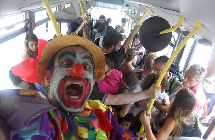 Raphael Hayoun, a professional clown (photo credit: RAPHEL HAYOUN)