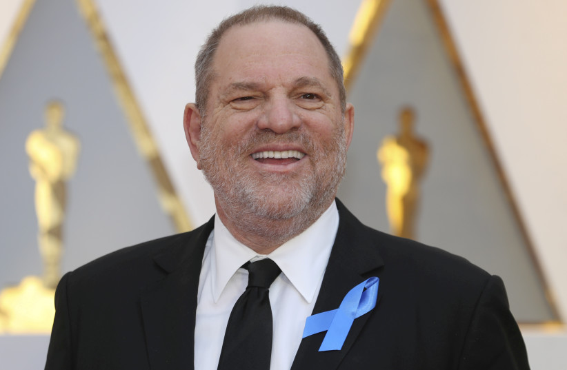 Harvey Weinstein poses on the Red Carpet after arriving at the 89th Academy Awards in Hollywood, California, US, February 26, 2017. (photo credit: REUTERS/MIKE BLAKE)