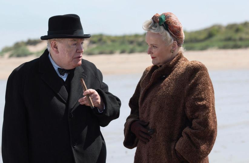 BRIAN COX and Miranda Richardson in a scene from 'Churchill (photo credit: HAIFA FILM FESTIVAL)