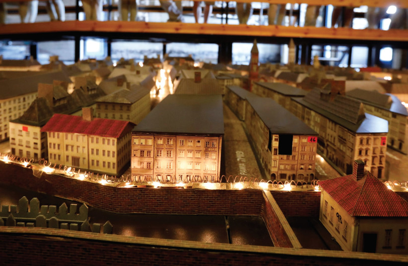 A MODEL of the Warsaw Ghetto in Yad Mordechai (photo credit: REUTERS)
