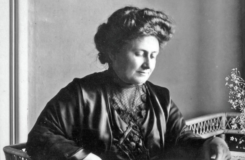 MARIA MONTESSORI in 1913. The Italian educator believed children need to be allowed to learn natural consequences if they drop a glass, for example. They will adjust their movements to protect the fragility of their environment. (photo credit: Wikimedia Commons)