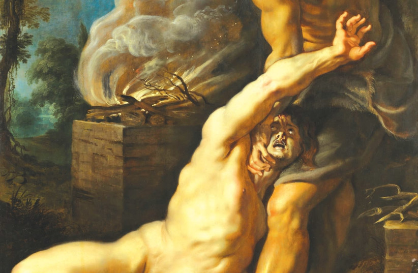 'CAIN SLAYING ABEL' (c. 1608) by Flemish painter Peter Paul Rubens. (photo credit: Wikimedia Commons)