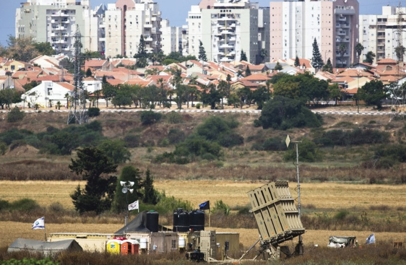 AN IRON DOME battery is seen near Ashkelon in June 2015. (photo credit: REUTERS)