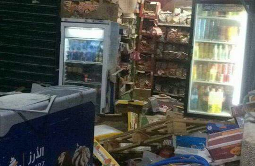 A vandalized shop in the Old City of Jerusalem, October 2017 (photo credit: Courtesy)