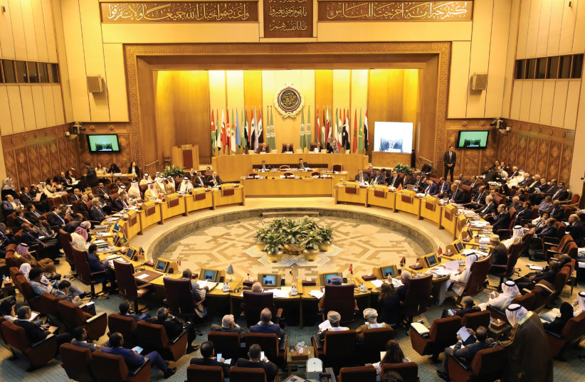 Arab League foreign ministers gather at their annual meeting earlier this year. (photo credit: REUTERS)