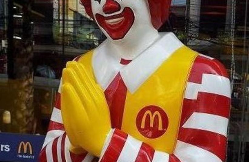 Ronald McDonald figure  (photo credit: FACEBOOK SCREENSHOT)
