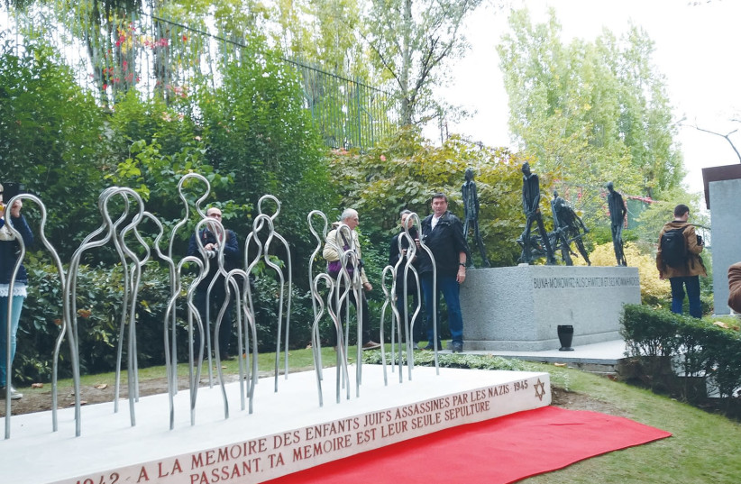 A MONUMENT, dedicated to the memory of Jewish children deported from France between 1942 and 1944, is inaugurated on Thursday in the Pere Lachaise Cemetery in Paris (photo credit: RINA BASSIST)