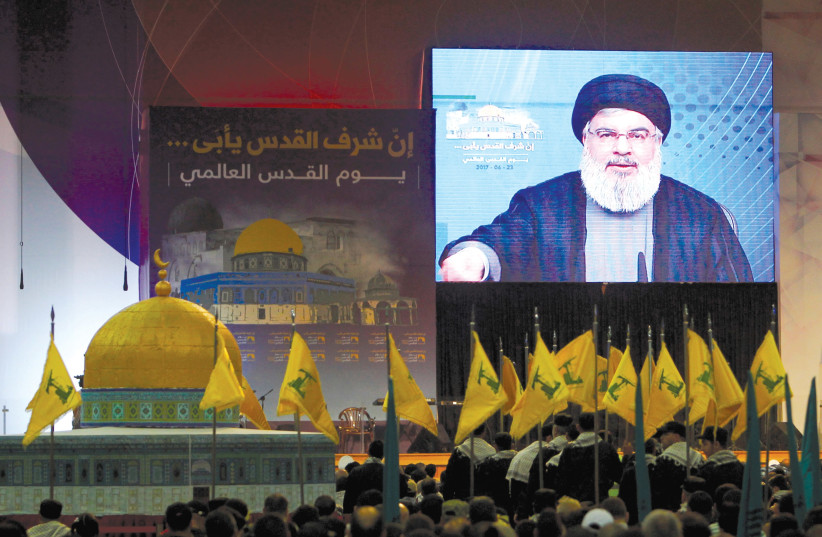 ONE OF the groups supplied by Iran is Hezbollah. (photo credit: REUTERS)