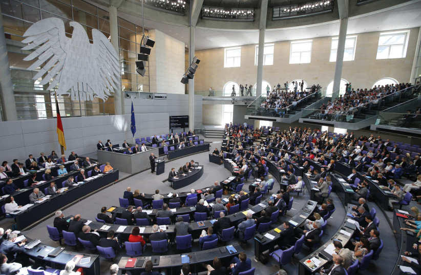 The interior of the Reichstag, the German Parliament building (photo credit: FABRIZIO BENSCH / REUTERS)