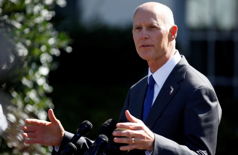 Florida Governor Rick Scott (photo credit: JOSHUA ROBERTS / REUTERS)