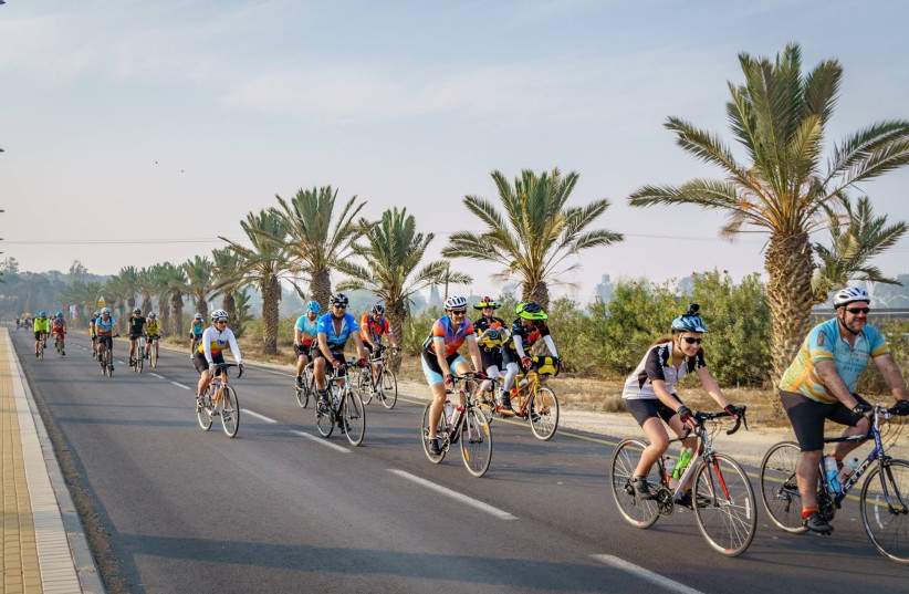 Biking for peace. Last year's participants of the Israel Ride.  (photo credit: Courtesy)