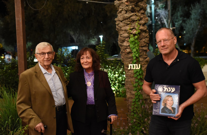 From left: The parents of bombing victim Anat Rosen-Winter, Zvi and Vehava Rosen, and co-owner of the Beit Hanna building, Roni Douek (photo credit: Courtesy)