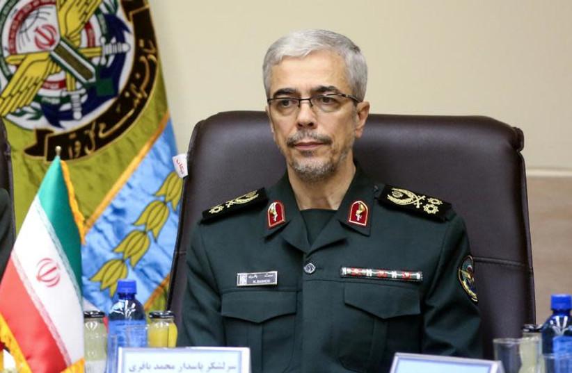 Iranian Military Chief of Staff General Mohammad Baqeri. (photo credit: TURKISH MILITARY/HANDOUT VIA REUTERS)