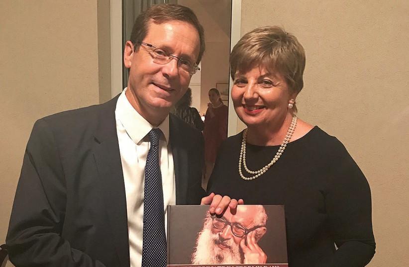Opposition leader MK Isaac Herzog and Irish Ambassador Alison Kelley (photo credit: Courtesy)