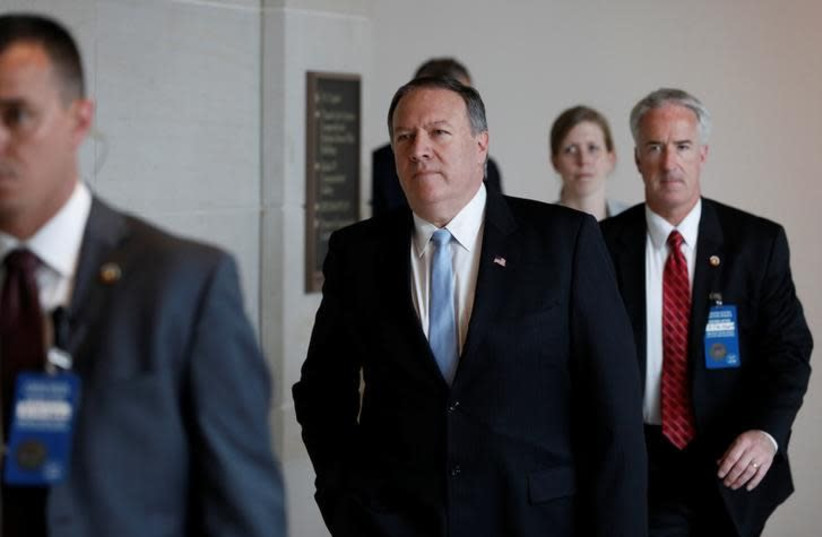 Central Intelligence Agency Director Mike Pompeo arrives for a closed briefing before the House Intelligence Committee on Capitol Hill in Washington, DC, U.S. May 16, 2017.  (photo credit: REUTERS/AARON P. BERNSTEIN)