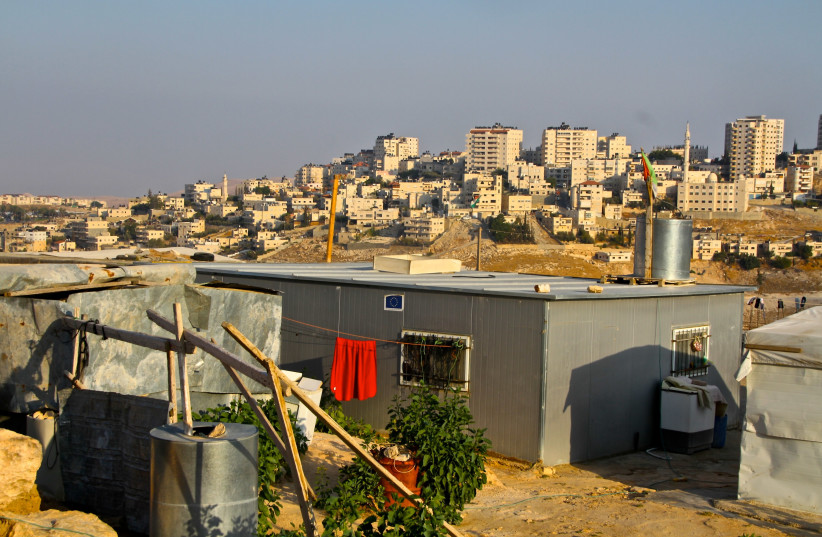 An EU-funded structure in the West Bank  (photo credit: TOVAH LAZAROFF)