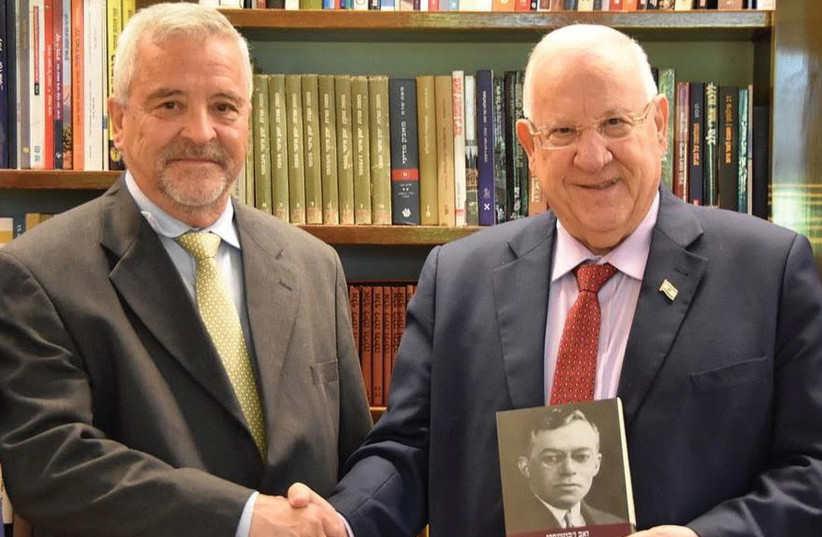 JABOTINSKY INSTITUTE chairman Yossi Ahimeir with President Reuven Rivlin. (photo credit: COURTESY JABOTINSKY INSTITUTE)