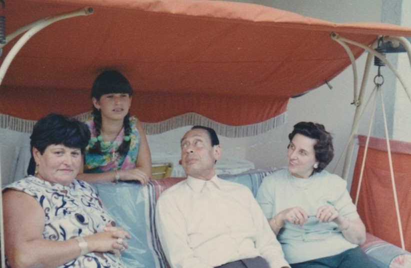 Anna Boros Gutman and daughter Carla visiting Dr. Mohamad Helmy and wife Emmi in Berlin, 1961 (photo credit: COURTESY YAD VASHEM)