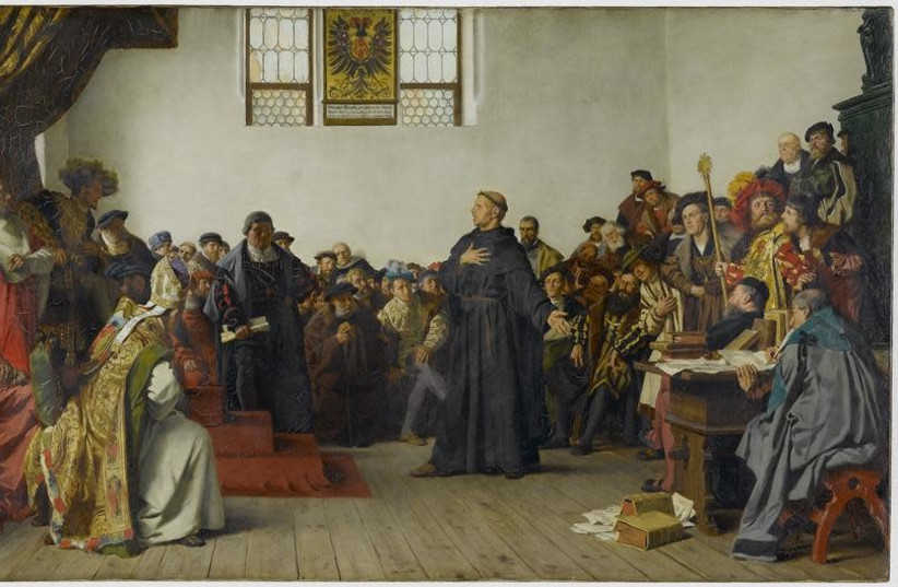 Luther at the Diet of Worms, by Anton von Werner, 1877 (photo credit: Wikimedia Commons)
