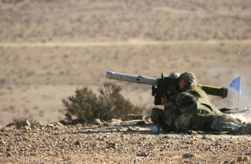 Firing the SPIKE missile system (photo credit: RAFAEL ADVANCED SYSTEMS)