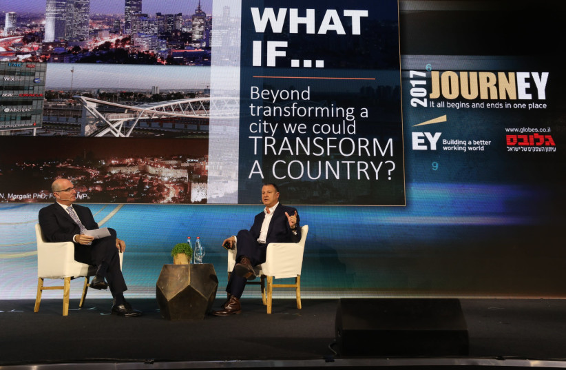 Ex-MK and venture capital investor Erel Margalit addressed entrepreneurs on Wednesday in Tel Aviv about the potential for Israeli companies to do business in Saudi Arabia (photo credit: Courtesy)