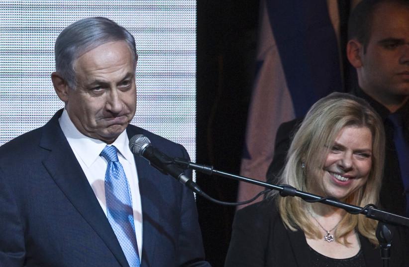 Benjamin and Sara Netanyahu (photo credit: NIR ELIAS / REUTERS)
