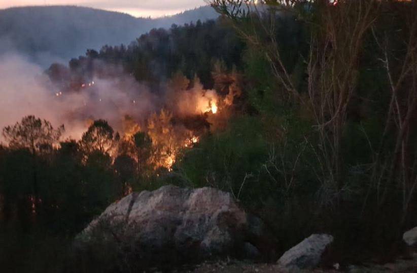 Wildfires in the Jerusalem Hills (photo credit: KKL-JNF)
