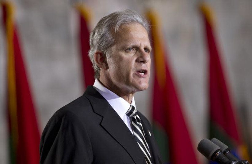 Michael Oren, former ambassador to the US, speaking infront of  Christians United for Israel.  (photo credit: REUTERS)