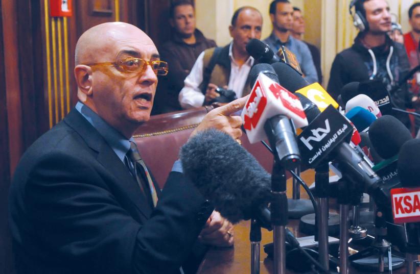 Mohammed Salmawy, fondateur d'Al-Ahram Hebdo (photo credit: REUTERS)