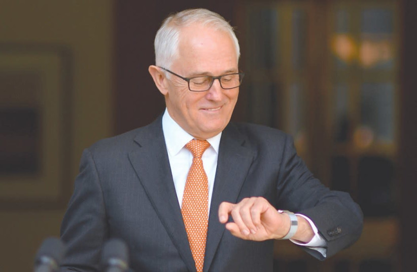 AUSTRALIAN PRIME MINISTER Malcolm Turnbull (photo credit: LUKAS COCH/AAP/REUTERS)