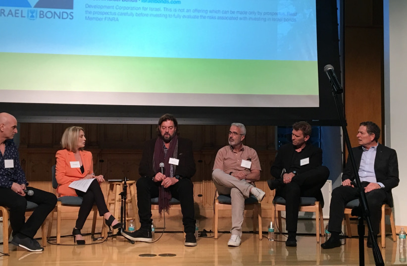 Panelists discuss the threat of cultural BDS at an event in Los Angeles (photo credit: KELLY HARTOG)