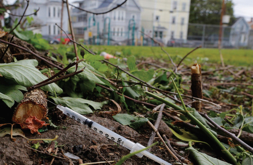 OPIOD ADDICTION is the new American plague. (photo credit: REUTERS)