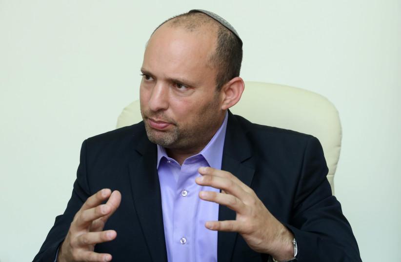 Education and Diaspora Affairs Minister Naftali Bennett (photo credit: MARC ISRAEL SELLEM/THE JERUSALEM POST)