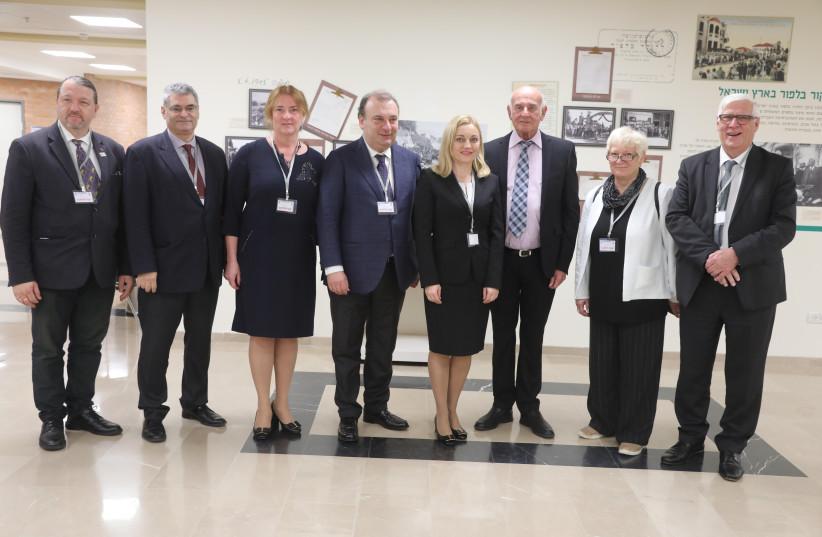 European Parliament Members visiting the Knesset, October 2017 (photo credit: YITZHAK HARARI)