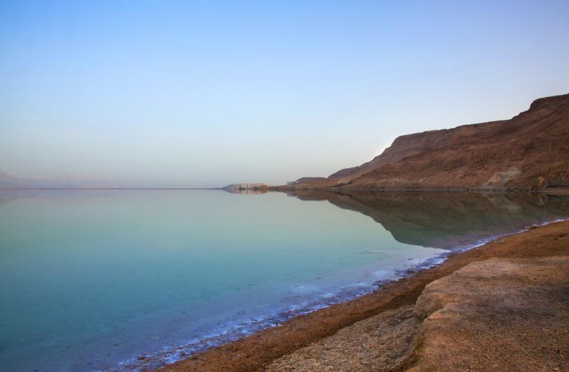 A beach at the Dead Sea (photo credit: ARIK BAREL)