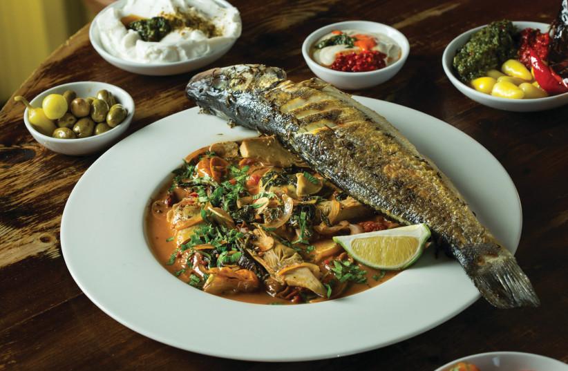 Food served at Raisa restaurant in Jaffa (photo credit: Courtesy)