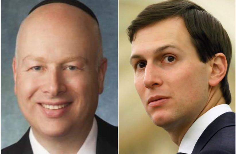 Jason Greenblatt and Jared Kushner (photo credit: COURTESY/REUTERS)
