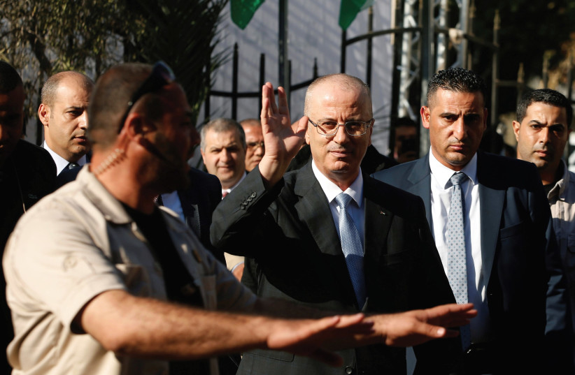 'THIS PAST week Minister of Finance Moshe Kahlon held a secret meeting in Ramallah with Palestinian Prime Minister Dr. Rami Hamdallah.' (photo credit: REUTERS)