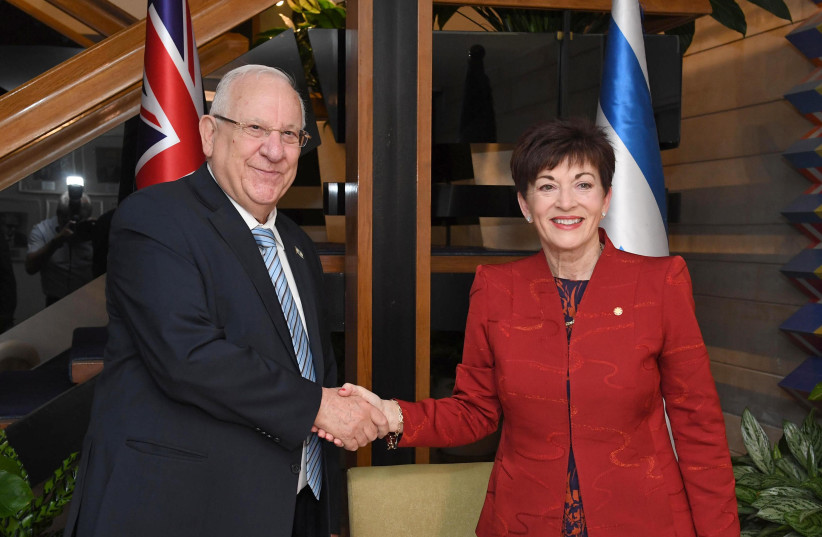 President Reuven Rivlin with governor-general of New Zealand, October 30, 2017.Dame Patsy Reddy (photo credit: MARC NEYMAN/GPO)