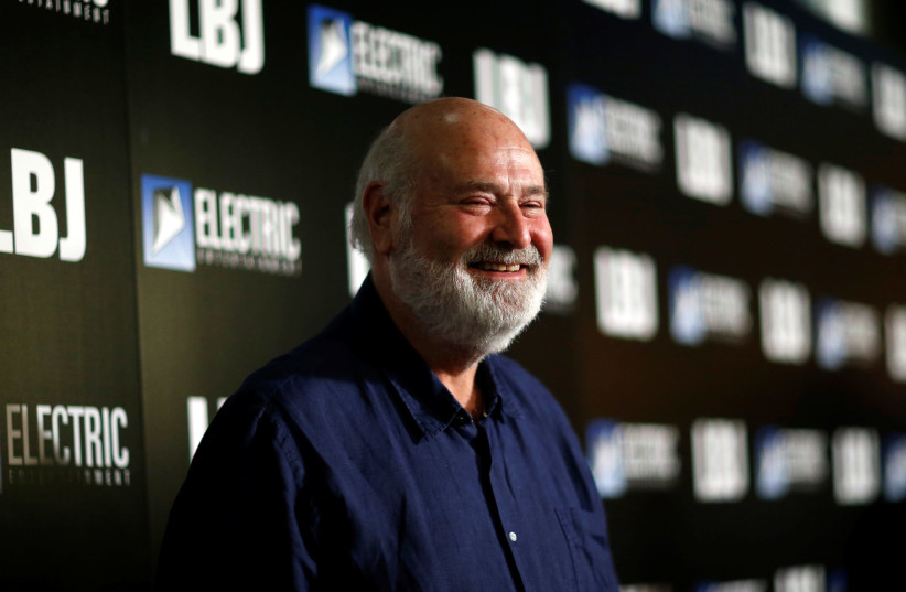 """Director Rob Reiner poses at the premiere for """"LBJ"""" in Los Angeles, California, US, October 24, 2017 (photo credit: REUTERS/MARIO ANZUONI)"""