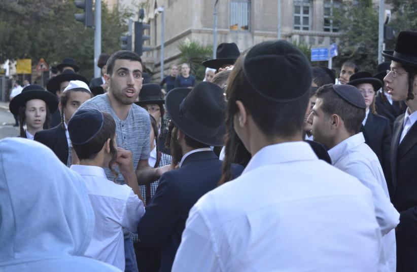 Anti-religious coercion protest in Jerusalem last month. (photo credit: UDI SHAHAM)