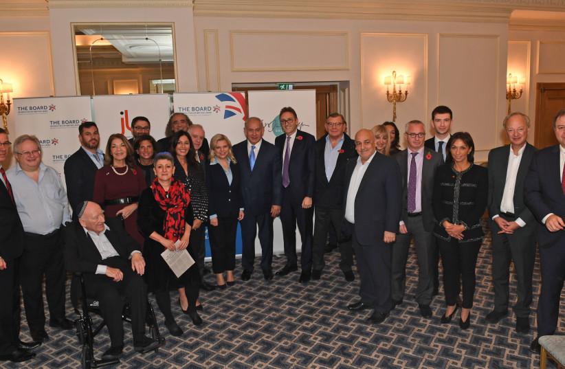 Prime Minister Benjamin Netanyahu meets with members of the Board of Deputies of British Jews  (photo credit: KOBI GIDEON/GPO)