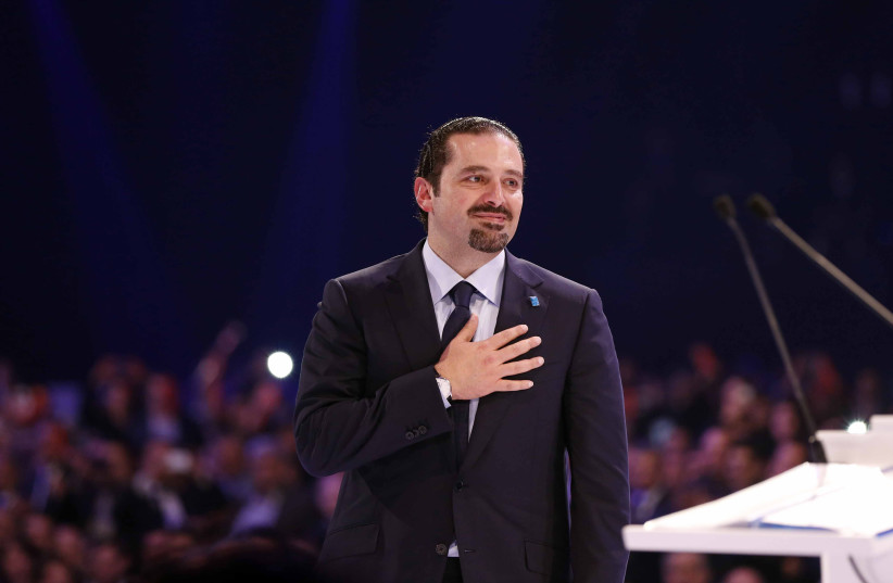 Lebanon's former prime minister Saad Hariri (photo credit: MOHAMED AZAKIR / REUTERS)