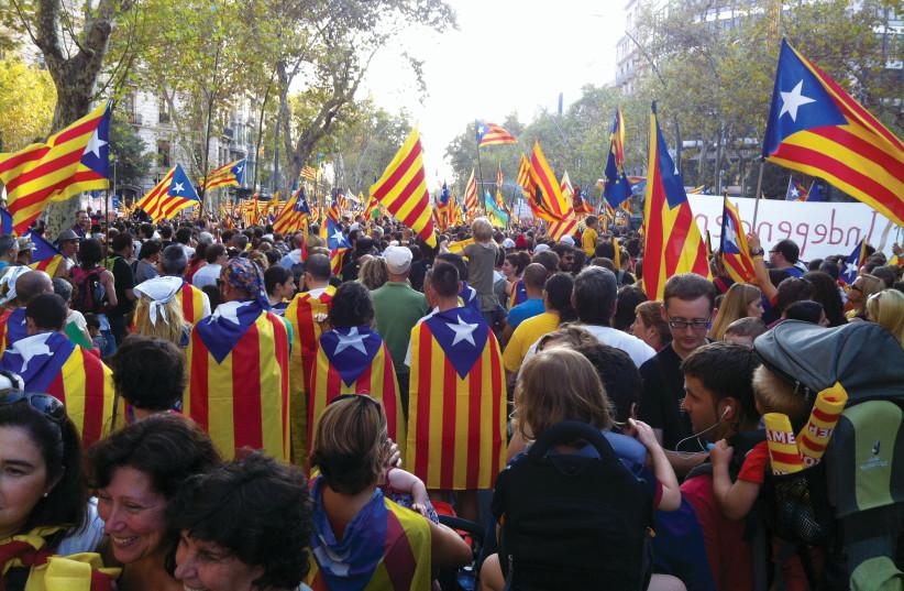 Marche pour l'indépendance de la Catalogne en 2012 (photo credit: WIKIPEDIA)