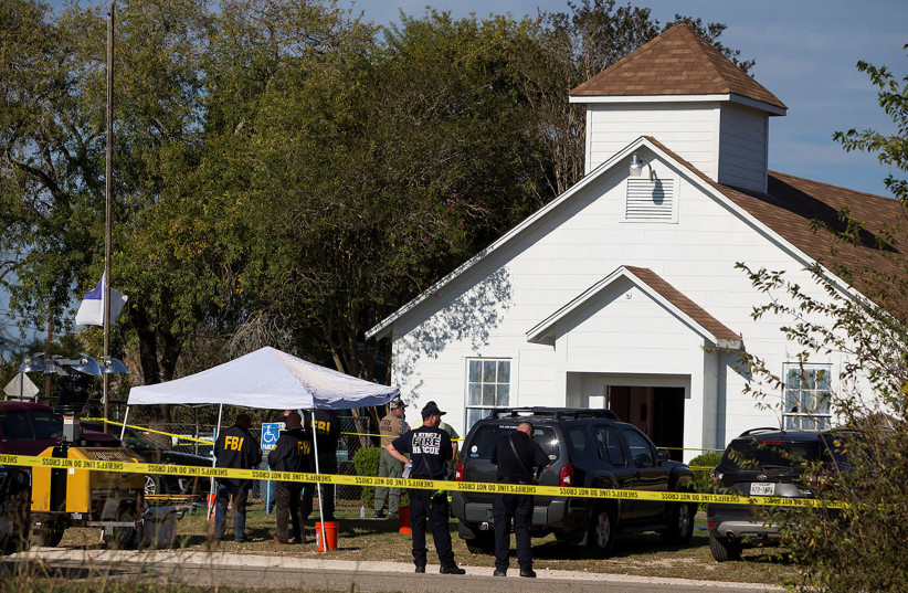 First Baptist Church Sutherland Springs (photo credit: REUTERS)