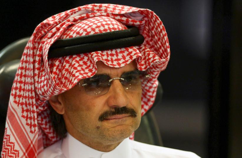 Saudi Prince Al-Waleed bin Talal attends a news conference in Riyadh, Saudi Arabia August 30, 2009.  (photo credit: FAHAD SHADEED/ REUTERS/ FILE PHOTO)