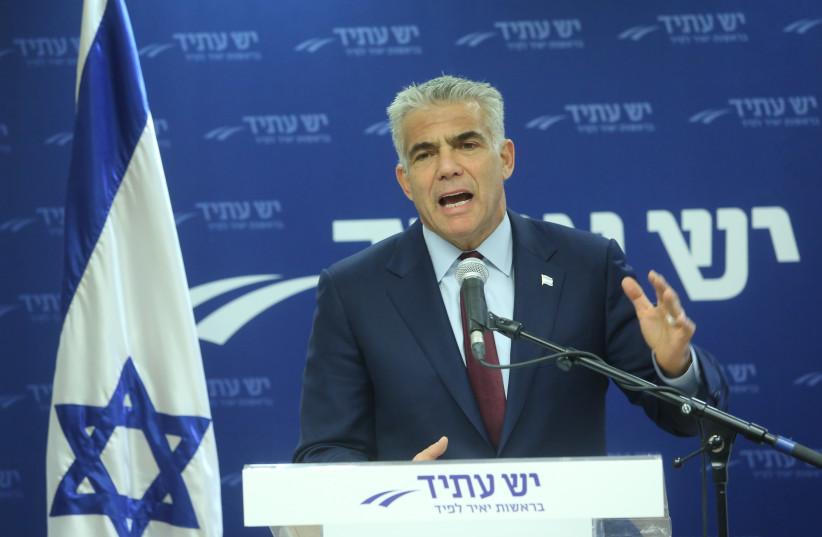 Yair Lapid speaking  (photo credit: MARC ISRAEL SELLEM/THE JERUSALEM POST)